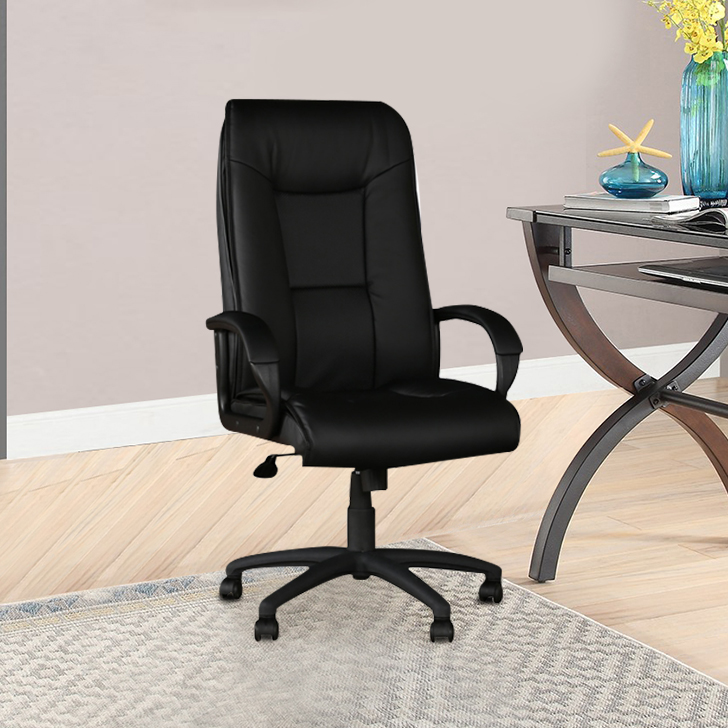 Garos Leatherette Office Chair in Black Colour By Hometown