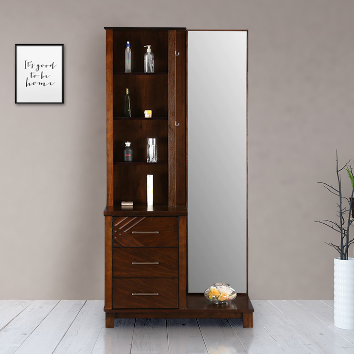 Bavaria Solid Wood Dressing Table in Brown Colour by HomeTown