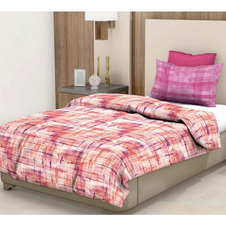 Epitome Cotton Single Bedsheet in Pink Colour by Trident