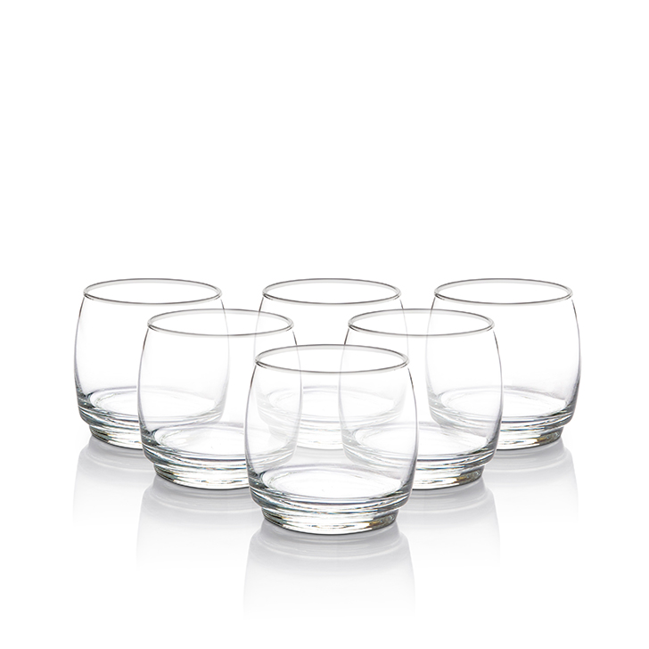 Lyra Lune Dof Glass 325 ml Glass Glasses & Tumblers in Transparent Colour by Lyra