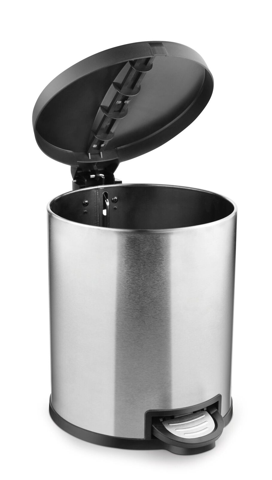 Kleeny Dustibin 12ltr Plastic and Stainless Steel Dustbins in Silver Colour by Bonita