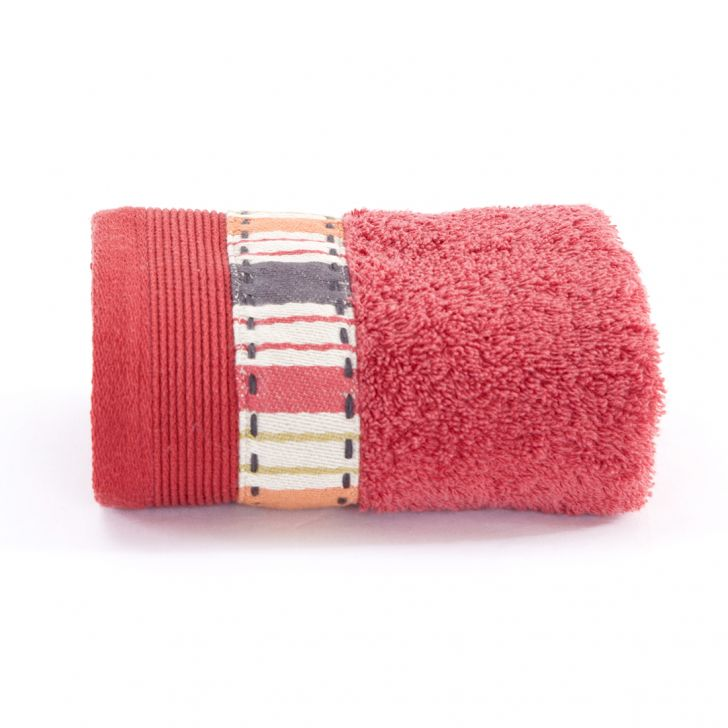 Maspar 550 GSM Dudel Dopp Cotton Red Hand Towel