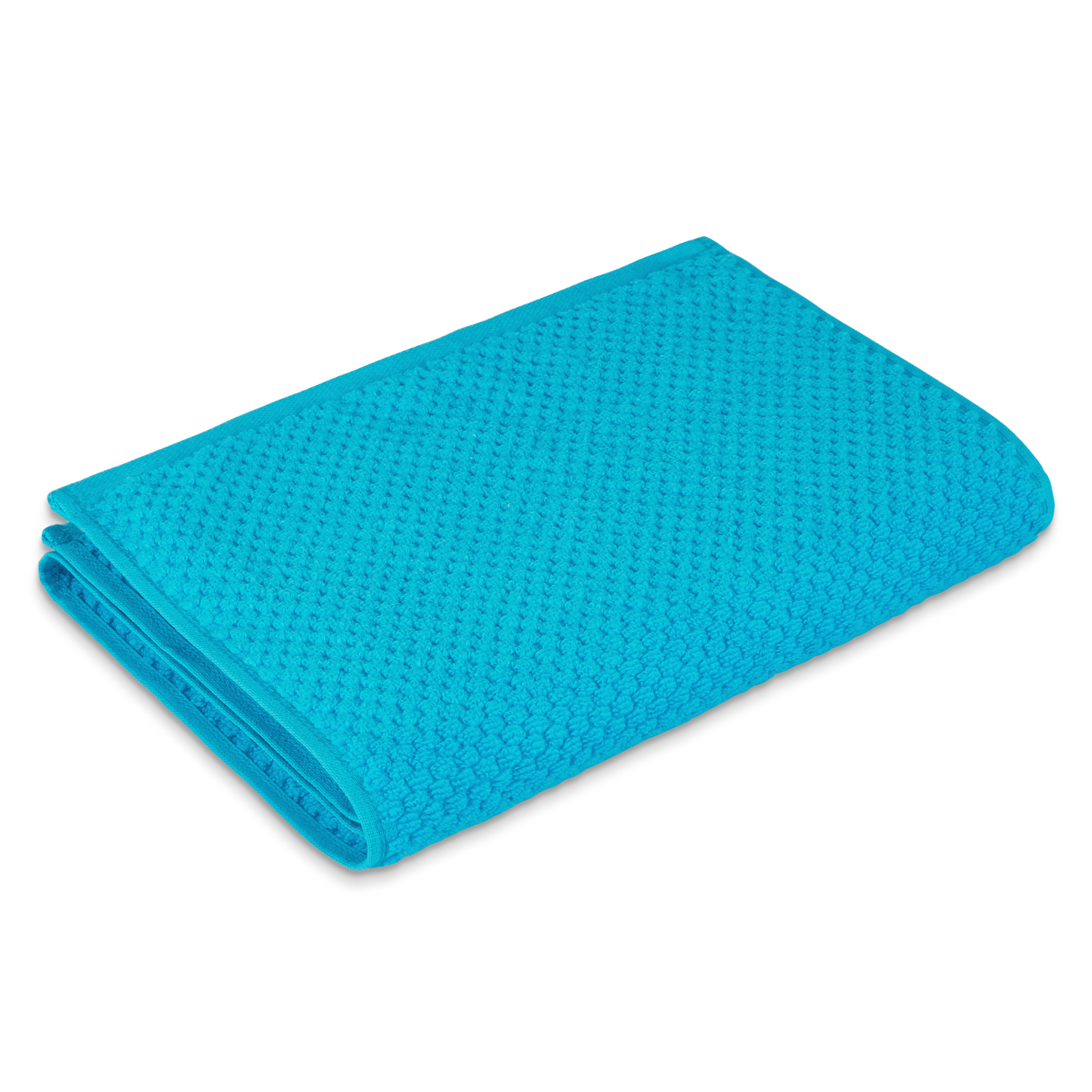 Spaces Essentials 1 Cotton Gsm Blue 1 Gym Cotton Towel Sets in Blue Colour by Spaces