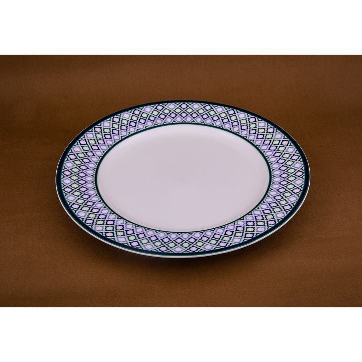 Azure Dinner Plate 21687 Ceramic Plates in White Colour by Living Essence