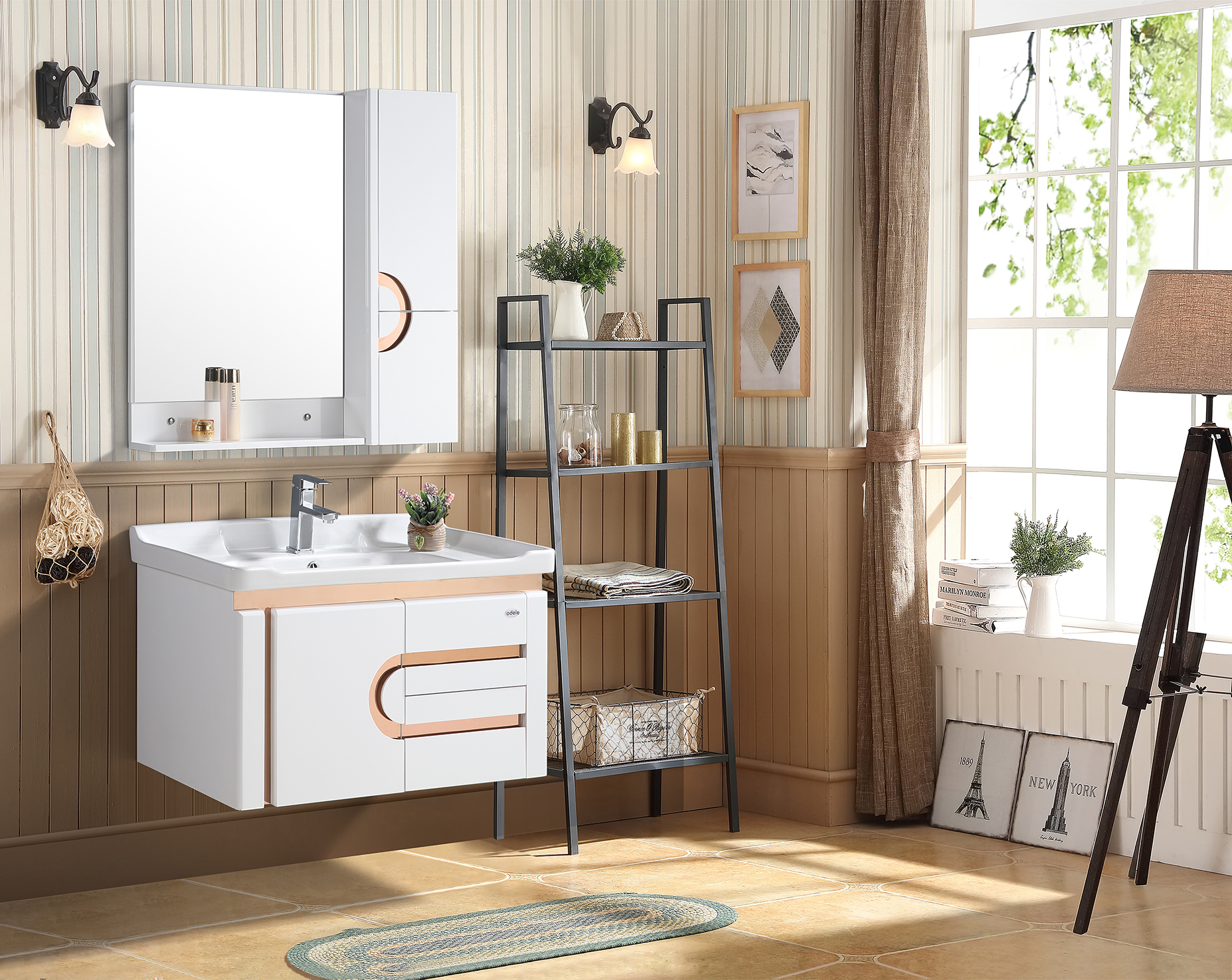 Cambria Bath Vanity in White Colour by HomeTown