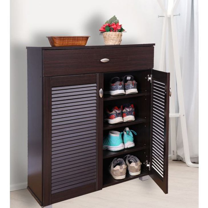 Frisco Engineered Wood Shoe Rack in Wenge Colour by HomeTown