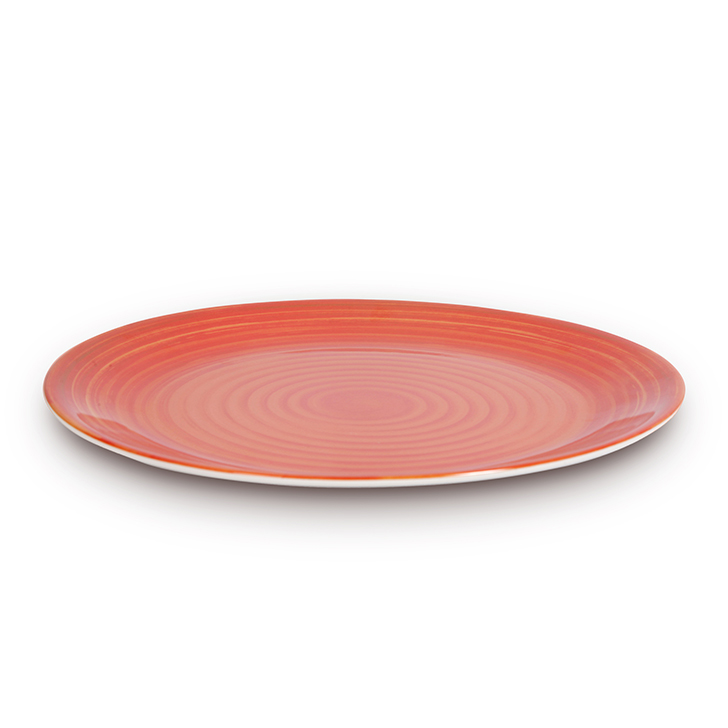 Melamine Dinner Plate Copper Food Grade Melamine Plates in Copper Colour by Living Essence