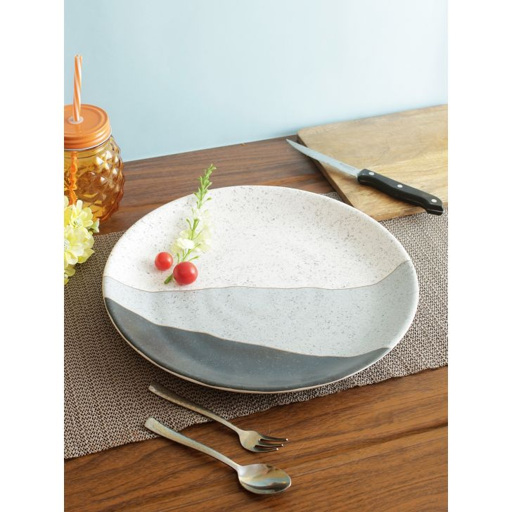 Nora Modern Persian Melamine Buffet Plate in Multi Colour by Living Essence