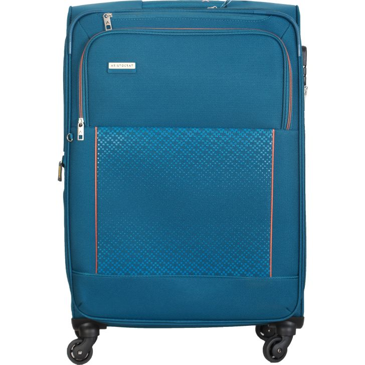 Aristocrat Verrano 4W Expandable Strolly 81 cm Soft Trolley (Blue)