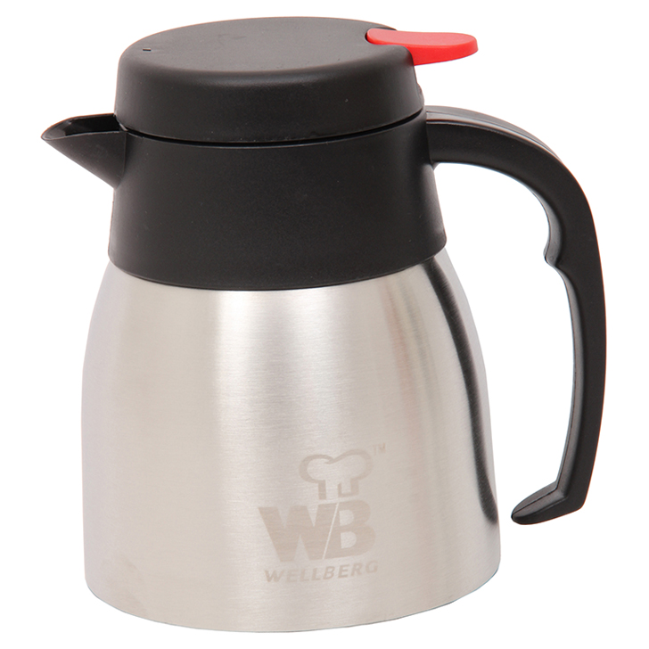 Vacuum Coffee Pot 1 Ltr Steel in Black Colour by Wellberg
