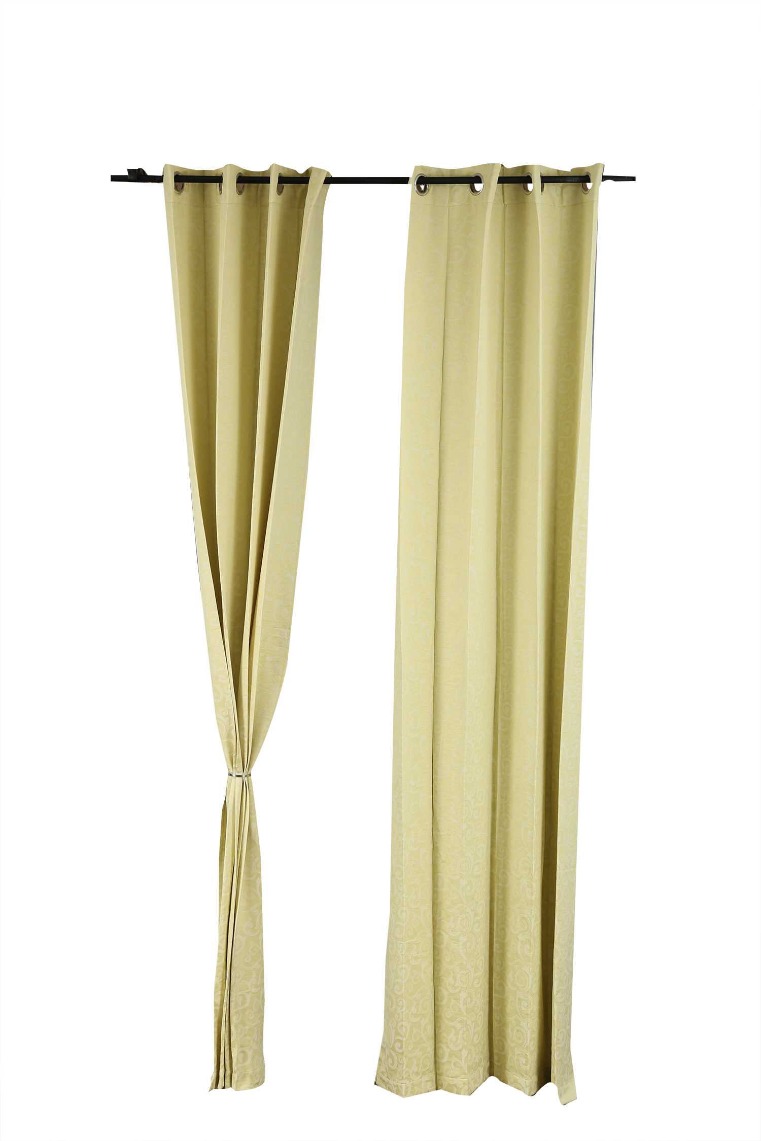 Florina Window Curtain Lime Ice Polyester Window Curtains in Lime Ice Colour by Living Essence
