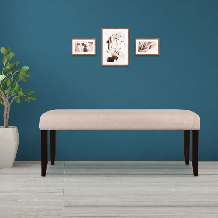 Flexi Solid Wood Six Seater Dining Bench in Cappuccino Colour by HomeTown