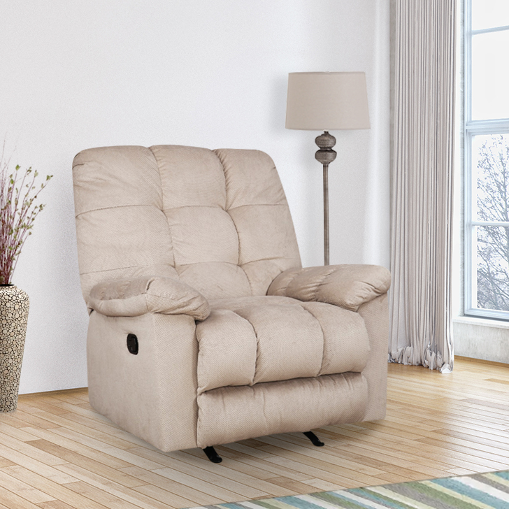 Elliot Fabric Single Seater Recliner in Grey Colour by HomeTown