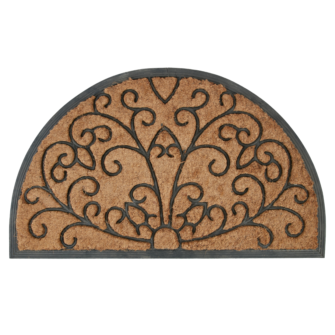 Semi Circle Doormat Natural Door Mats in Natural Colour by Living Essence