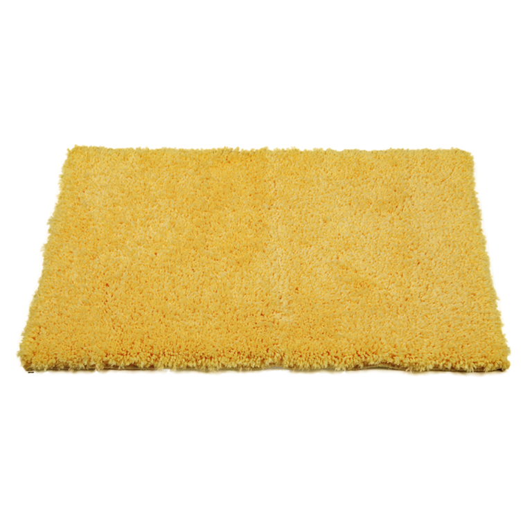 Bath Mat Nora Yellow Polyester Bath Mats in Yellow Colour by Living Essence