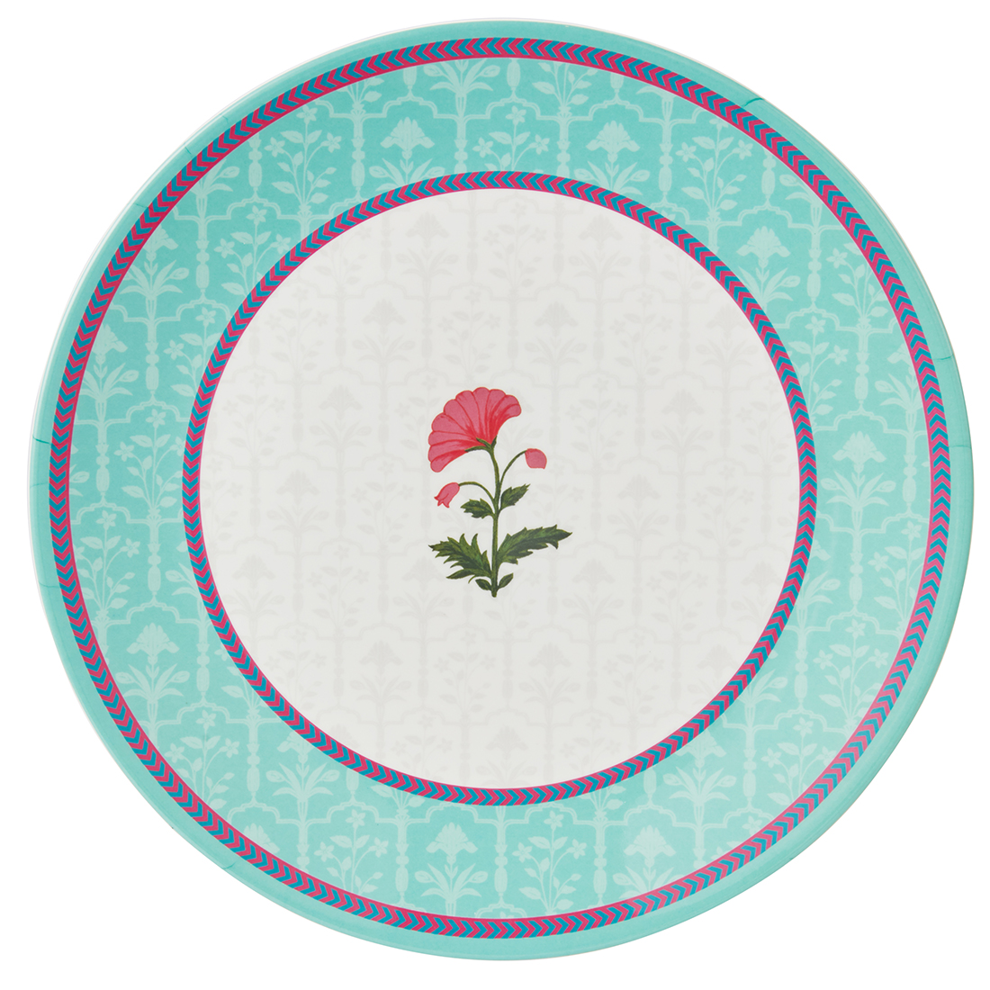 Rambagh Dinner Plate Plates in Multicolour Colour by Living Essence