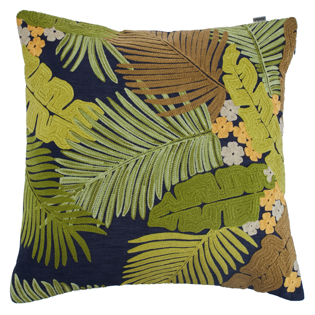 Palm Cushion Cover Polyester Cushion Covers in Green Multi Colour by Living Essence