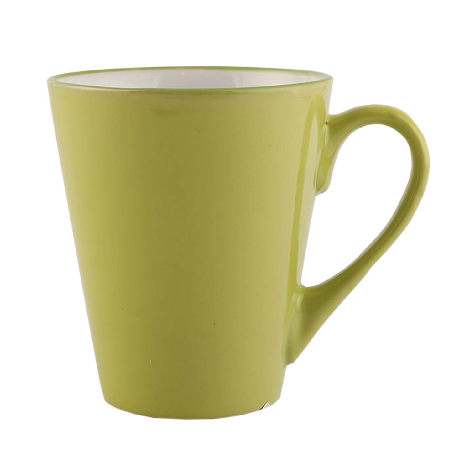 Lime Solid Coffe Mug Ceramic Coffee Mugs in Lime Colour by Living Essence