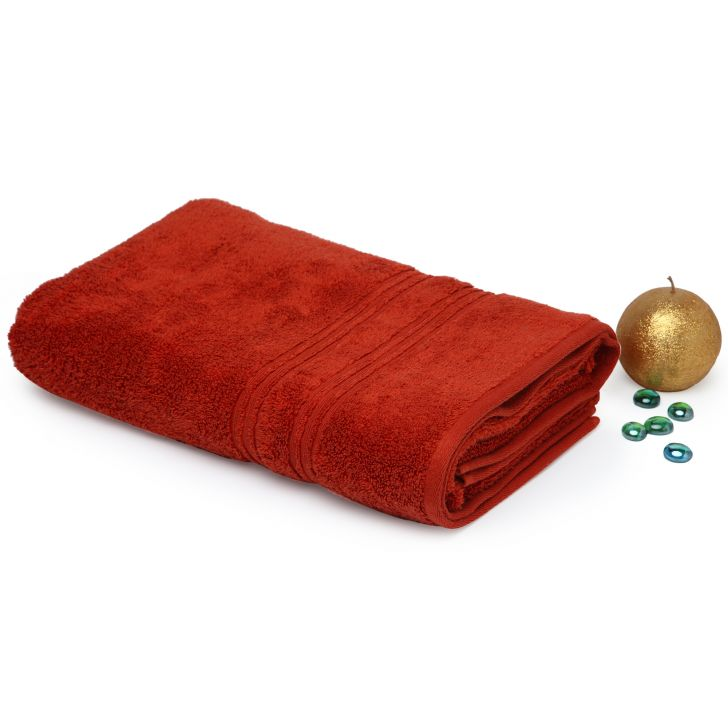 Spaces Swift Dry Rust Cotton Bath Towel