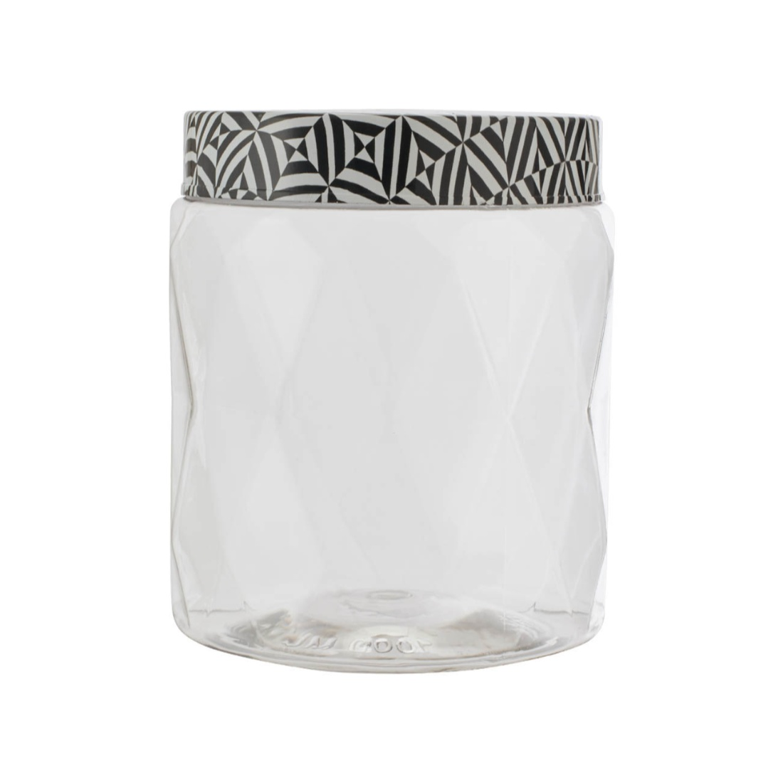 Clark Container 1000 ml Glass Containers in Transparent Container & Black Whitelid Colour by Living Essence