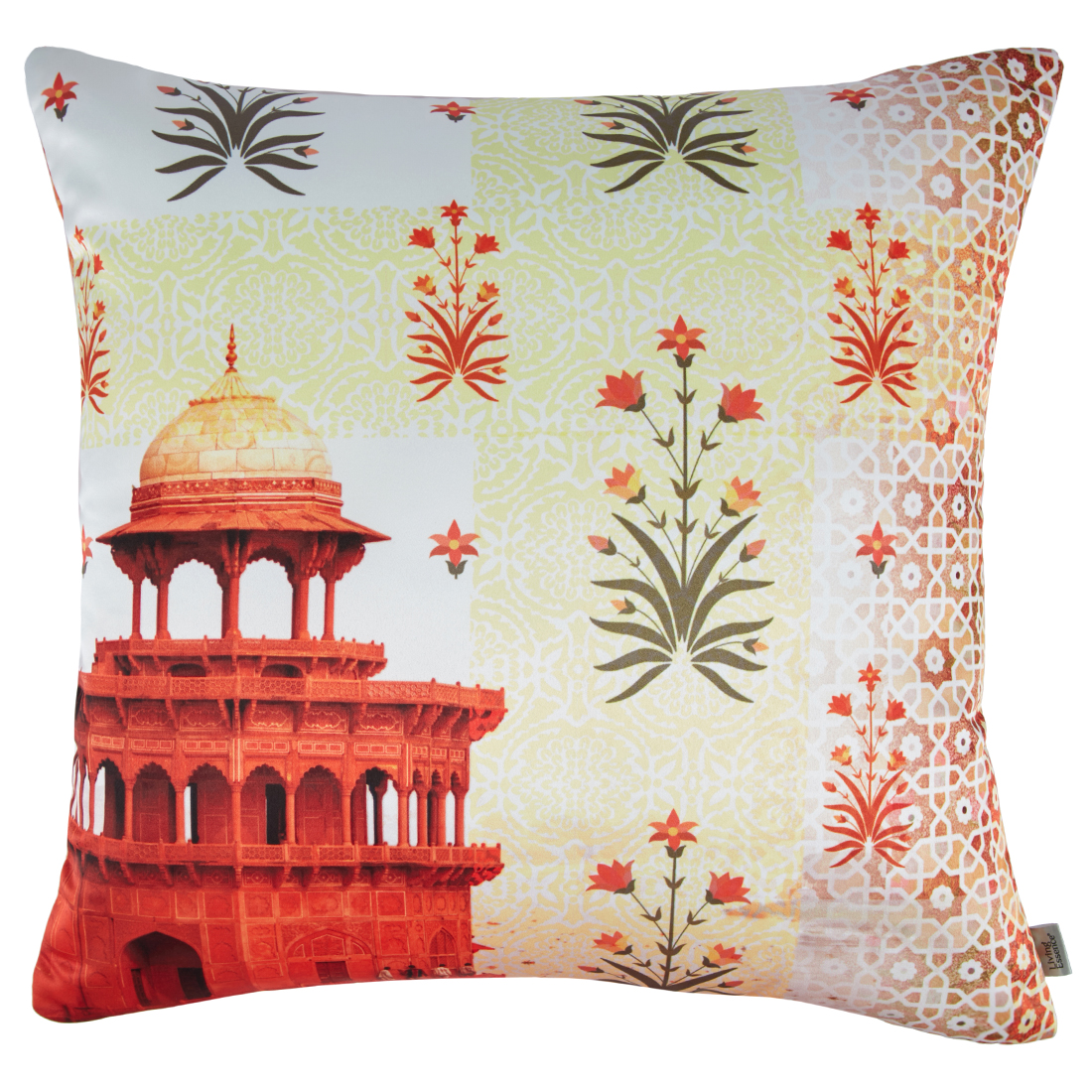Digital Cushion Cover Samarkand Cushion Covers in Poly Satin Colour by Living Essence