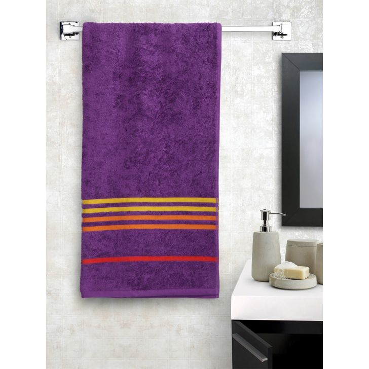 Portico New York Tiara Bath Towel 150 cms x 75 cms in Orchid Purple Color by Portico