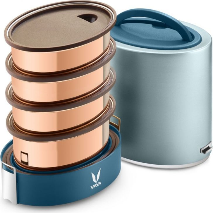 Vaya Tyffyn 1300 Ml - 4 Copper Containers, Blue