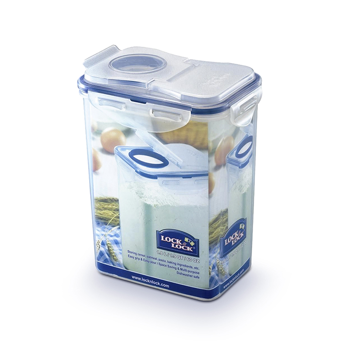 Lock & Lock Classics Tall Storage Container 1800 ml Polypropylene Containers in Transparent Colour by Lock & Lock