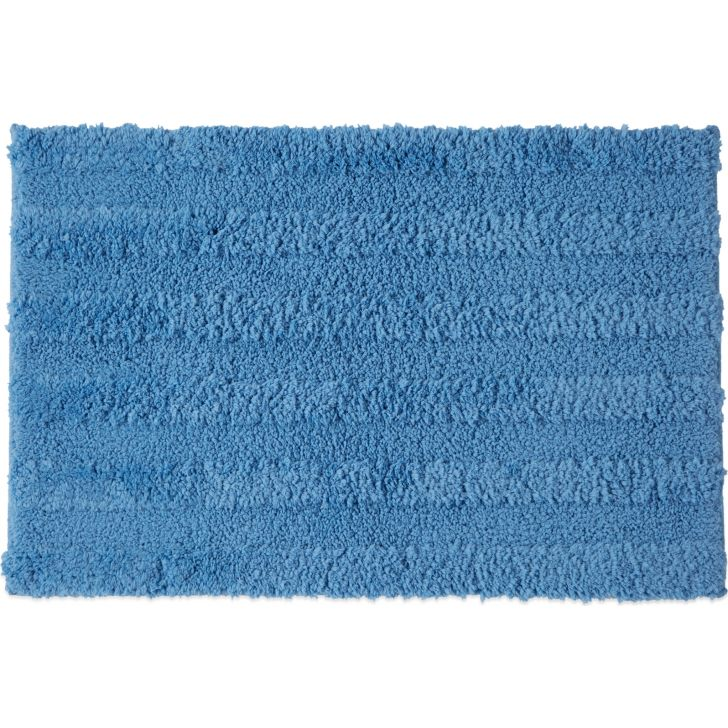 Spaces Polyester Bath Mat in Blue Colour by Spaces