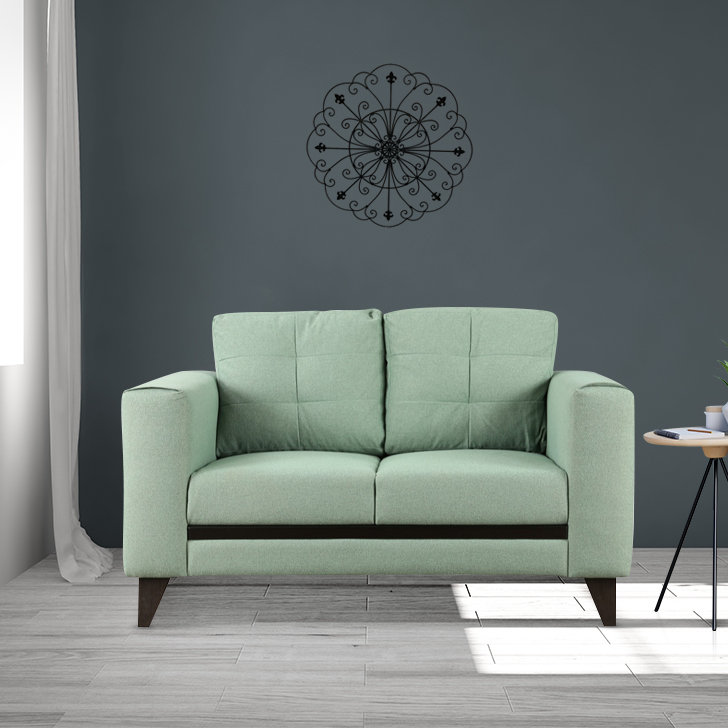 Garcia Fabric Two Seater sofa in Olive Colour by HomeTown