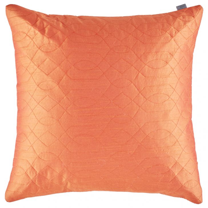 Blossom Polyester Cushion Covers in Rust Colour by Living Essence