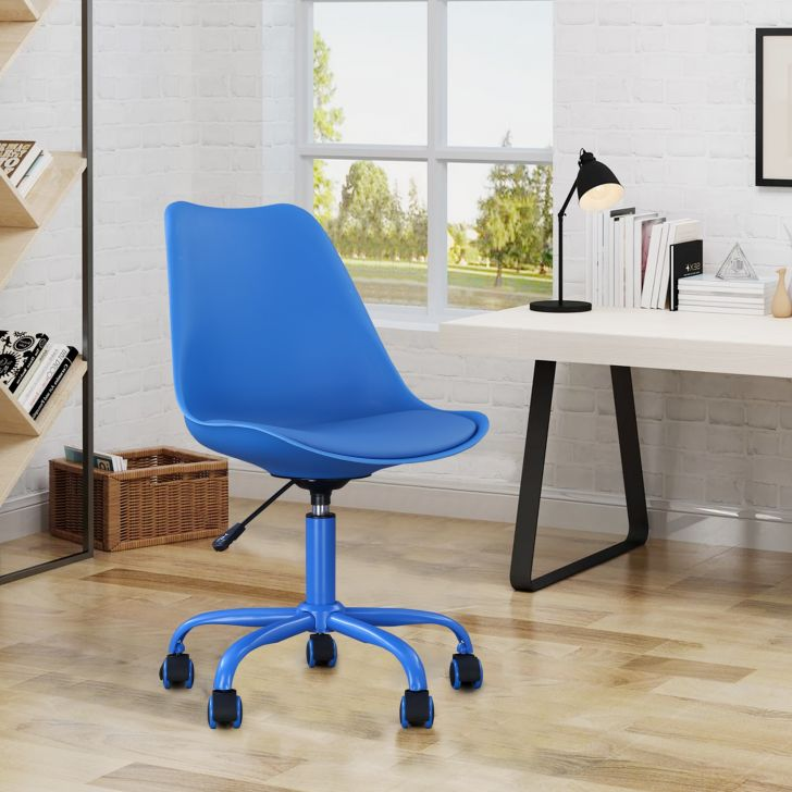 Junior Plastic Study Chair in Blue Colour by HomeTown