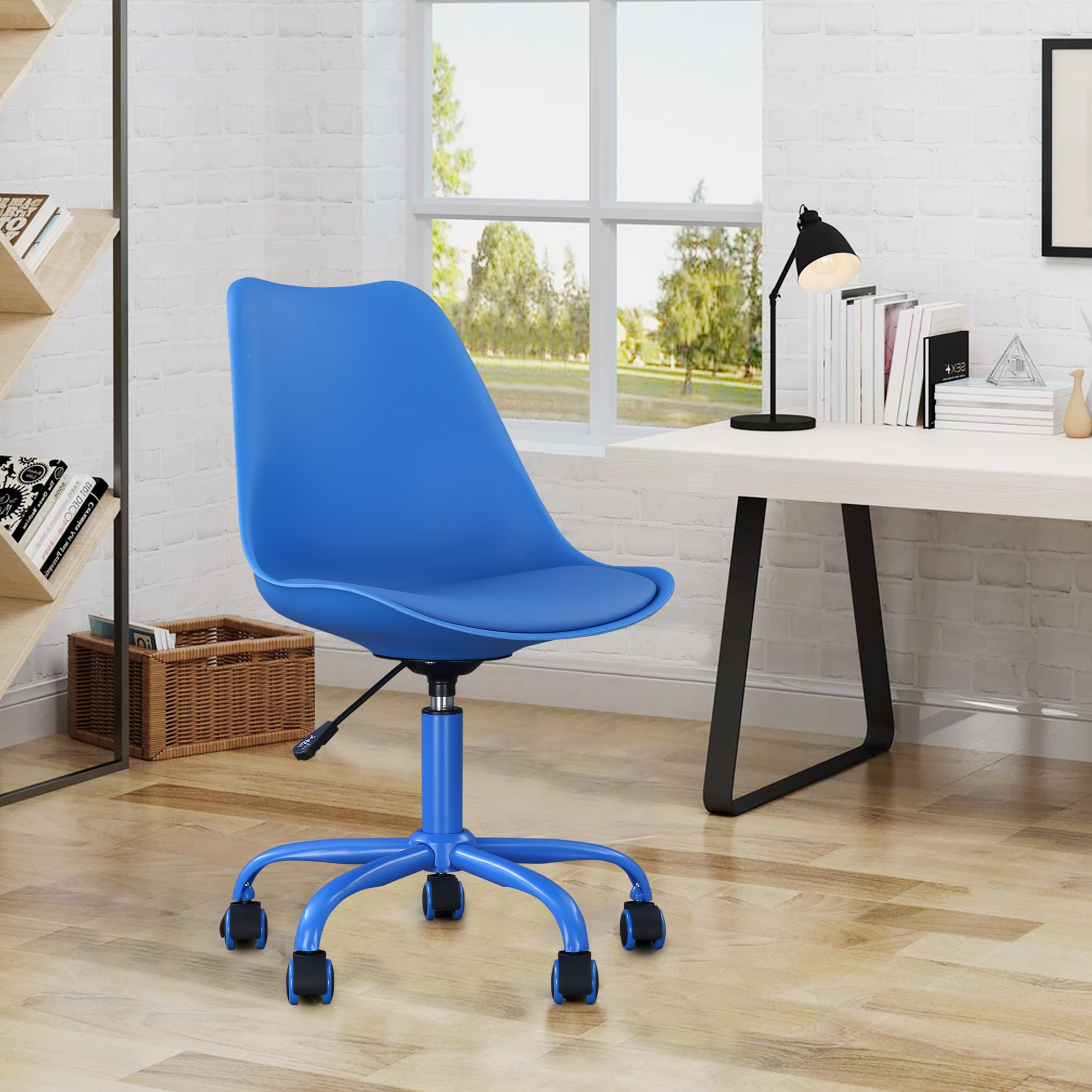 Junior Plastic Study Chair in Blue Color by HomeTown