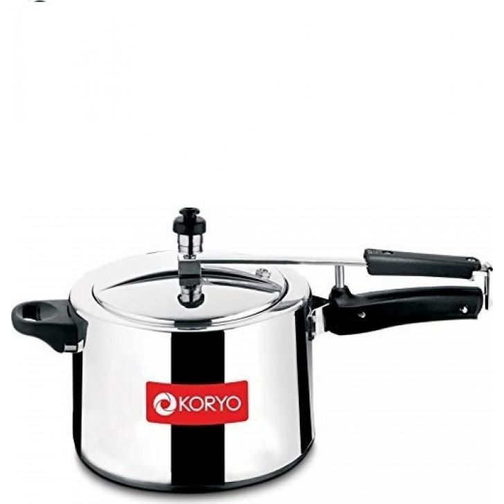 5 Ltr. Inner Lid (KPCIN5LILC) Aluminium Pressure Cooker in Silver Colour by Koryo