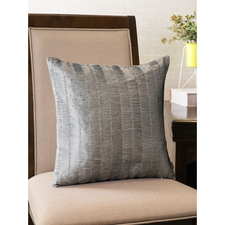 Manhattan  Cushion Cover 16X16 CM in Charcoal Colour by Living Essence