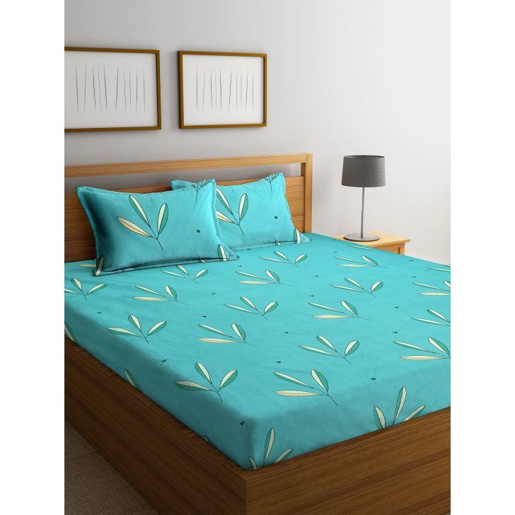 Carnival Double Bedsheet 220 x 230 CM in Turq Colour