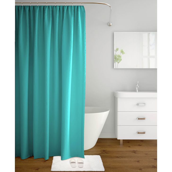 Tangerine Polyester Shower Curtains in Blue Colour by Tangerine