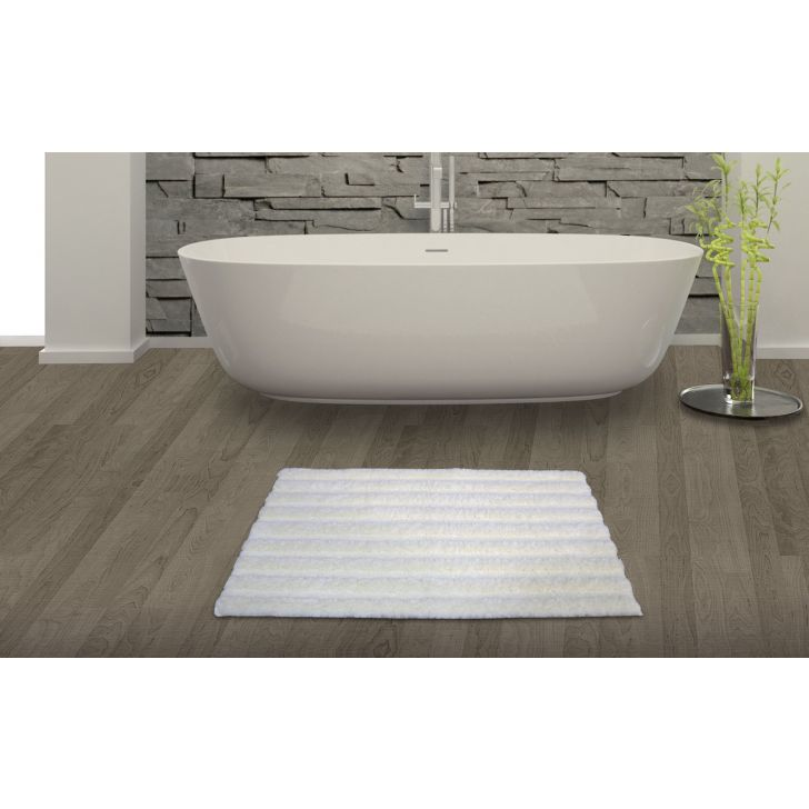 Spaces Swift Dry Pearl Cotton Bath Mat - Large Cotton Bath Mats in Pearl Colour by Spaces