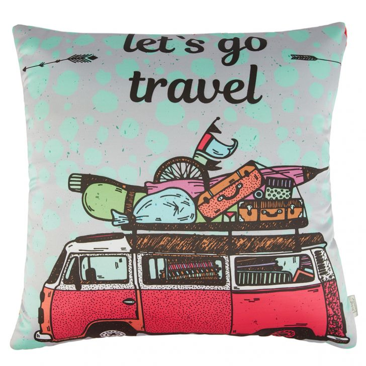 Digital Cushion Cover Van Cushion Covers in Poly Satin Colour by Living Essence