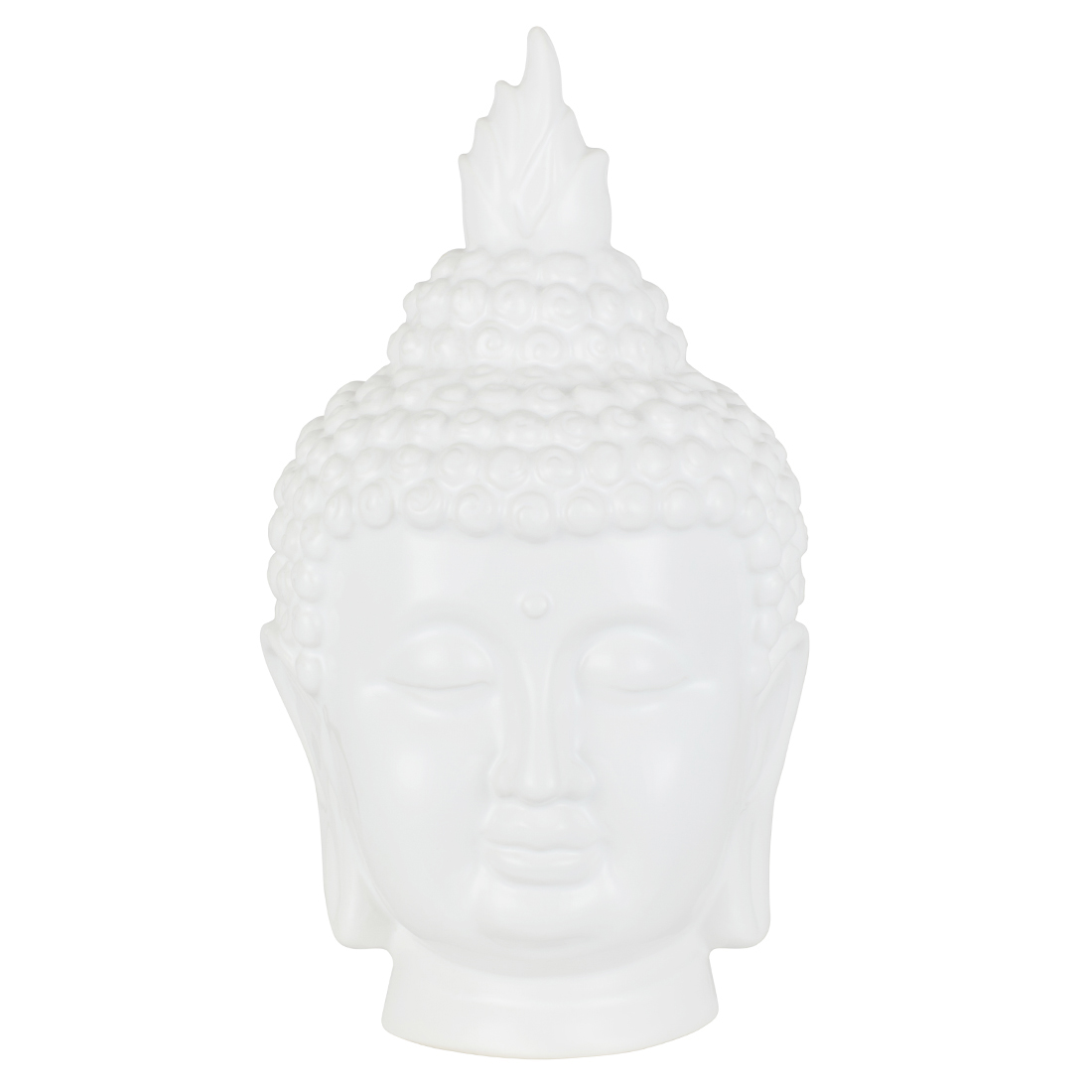 Luna Peace Budha Face White Gold Ceramic Table D in White Gold Colour by Living Essence