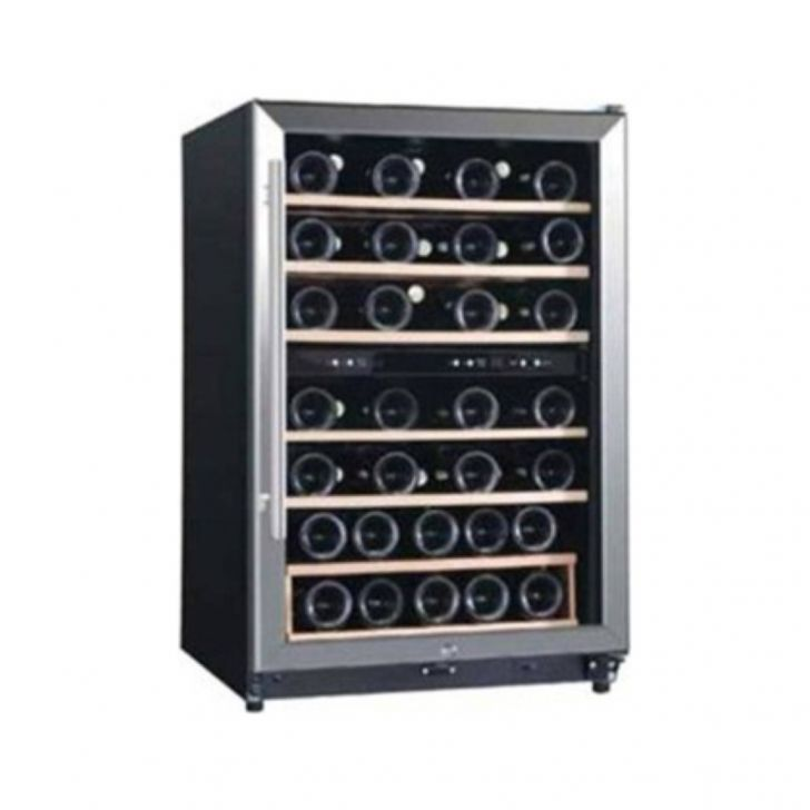 Koryo KWC126D45WB Wine Cellar 45 Bottles Single Zone Wine Cooler in Black Colour by Koryo