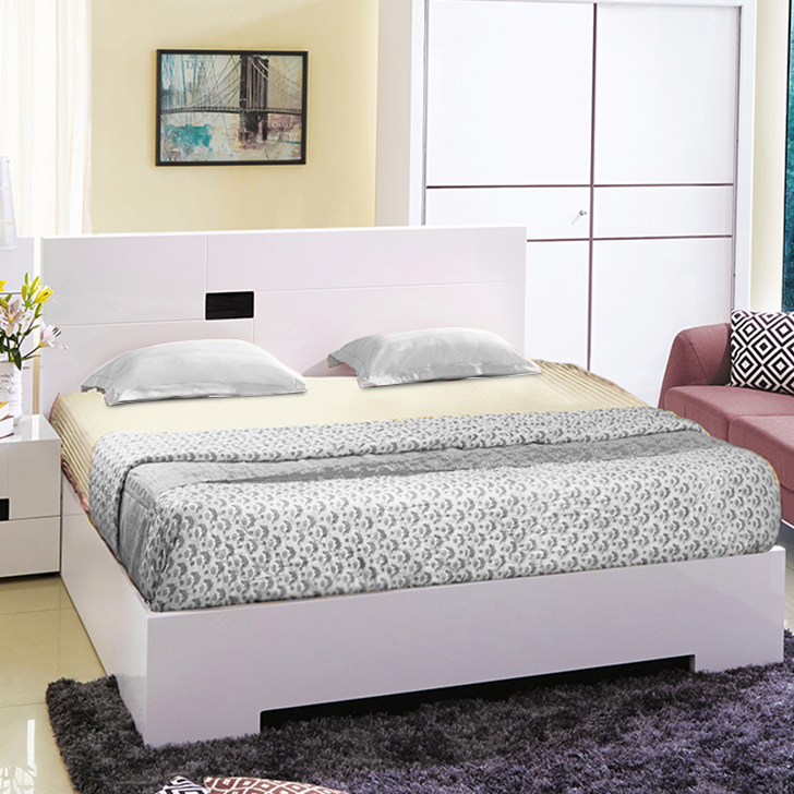 Edwina Engineered Wood Hydraulic Storage King Size Bed in White Colour by HomeTown