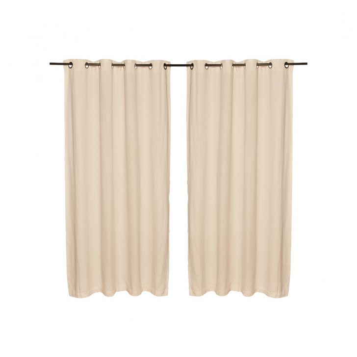 Fiesta Jacquard Polyester Door Curtains in Off White Colour by Living Essence