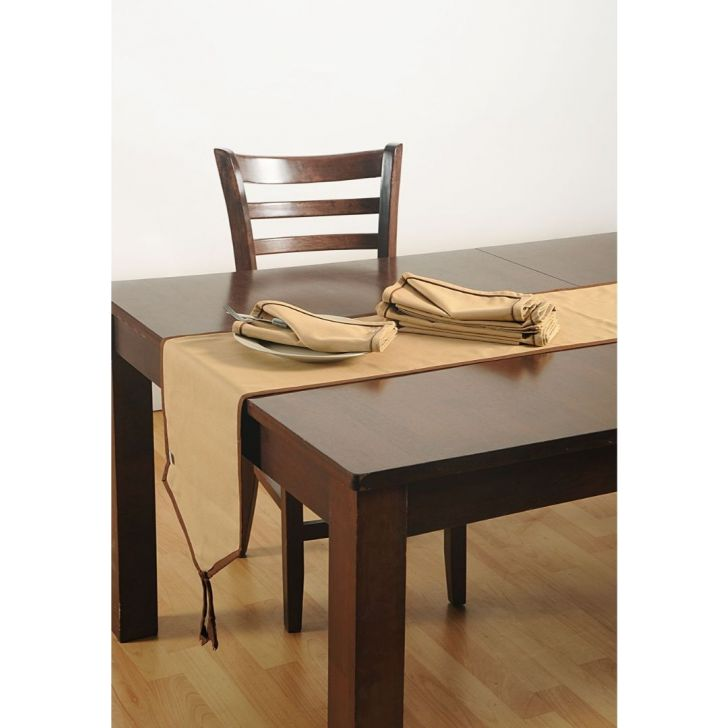 Solid Table Runner In Beige Color By Swayam