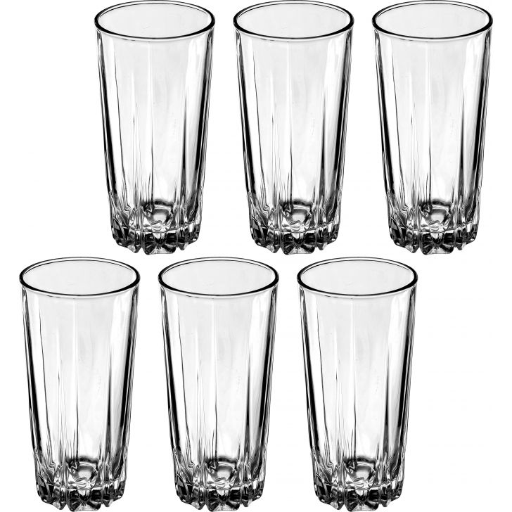 Monarch Glass Water Glass Set of 6 Pcs 300 Ml in Transparent Colour by Sanjeev Kapoor