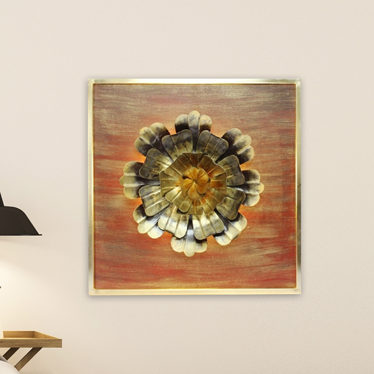 Marigold With Light D Iron Wall Accents in Multi Colour by Royce