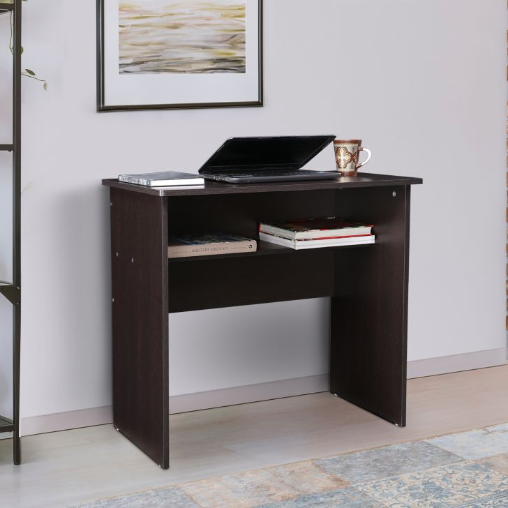 Coeus Engineered Wood Study Table in Wenge Colour