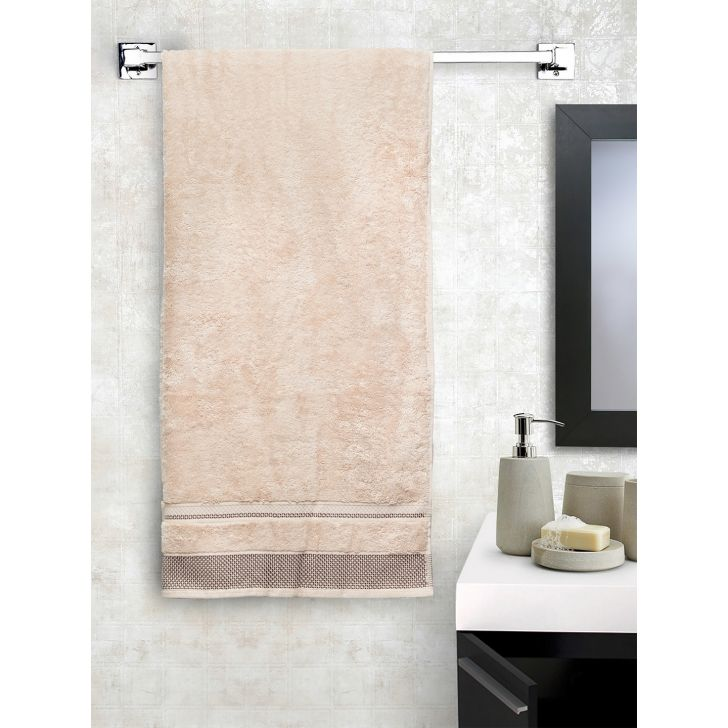 Spaces Cotton Bath Towel in Cream Colour by HomeTown