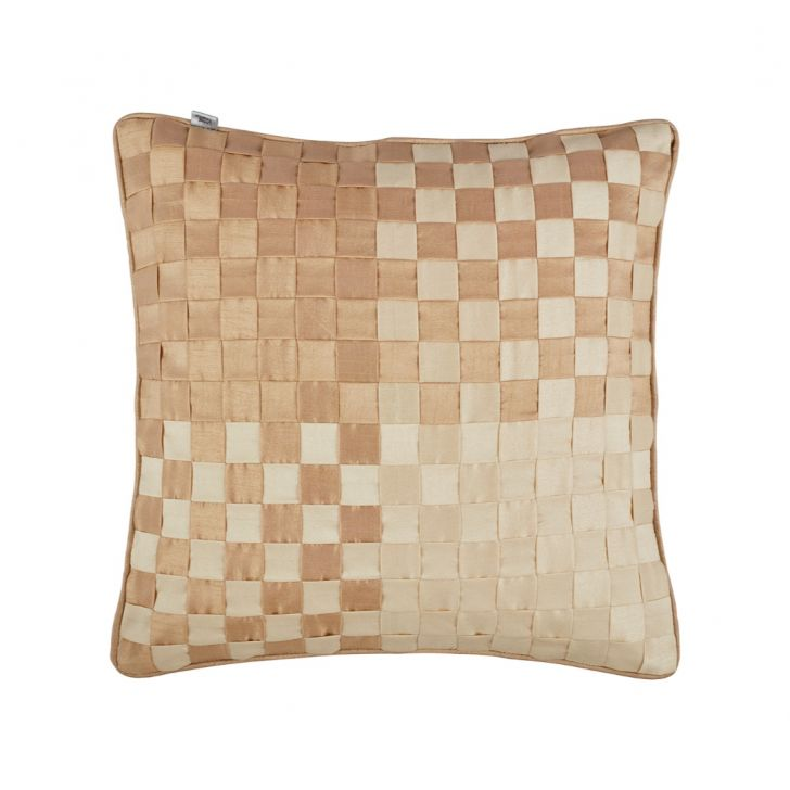 Basket Cushion Cover Neutral Polyester Cushion Covers in Neutral Colour by Living Essence