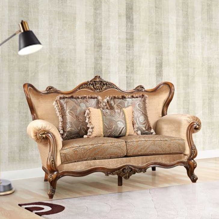 Constantine Fabric Two Seater sofa in Brown Colour by HomeTown